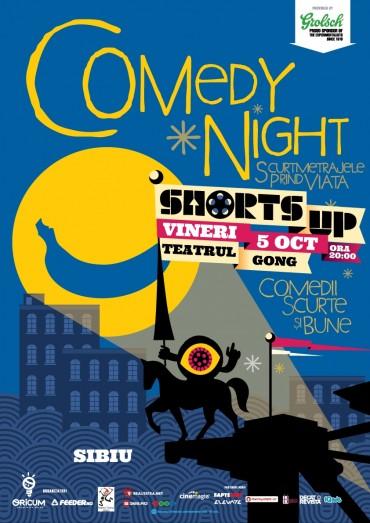 ShortsUP Comedy Night vine la Sibiu