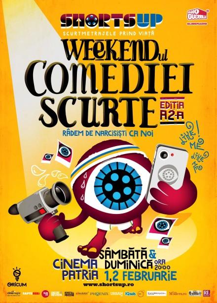 Afis Weekendul Comediei Scurte ShortsUP