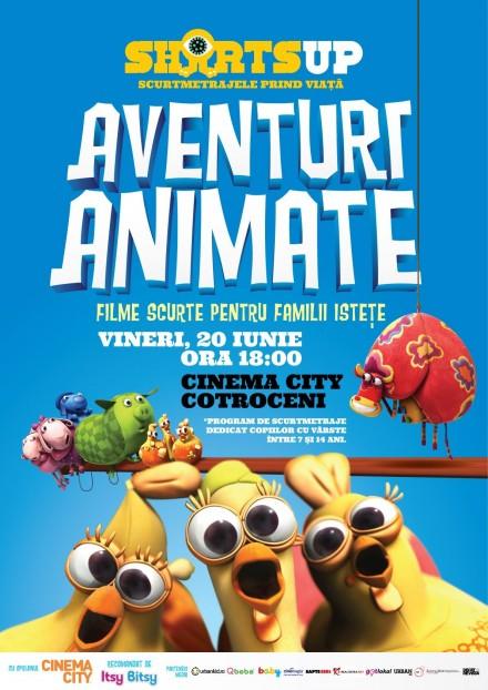 ShortsUP Afis Aventuri Animate