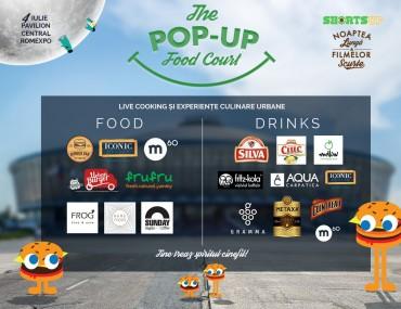 Pop-up food court cu bucătării urbane, sâmbătă, la Noaptea Lungă